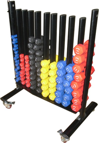 Dumbbells For Sale >> Large Commercial Studio Dumbbell Rack - £219.95 - Gymwarehouse