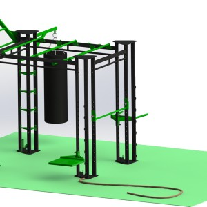 Small Indoor Gym Training Rig